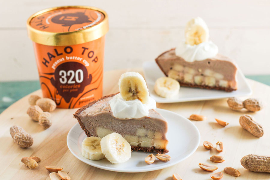 Chocolate Peanut Butter Banana Ice Cream Pie2